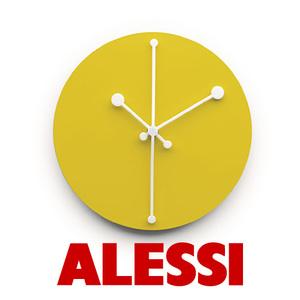 OROLOGIO DA PARETE DOTTY CLOCK GIALLO ALESSI acquista online
