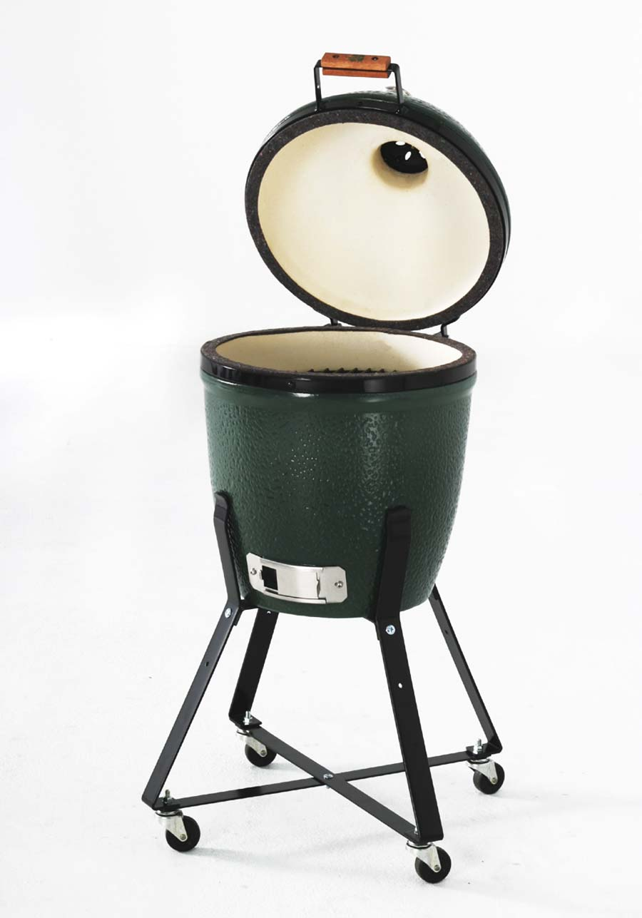 BIG GREEN EGG SMALL CM 33 CON  CARRELLO E CONVECTOR FORNO